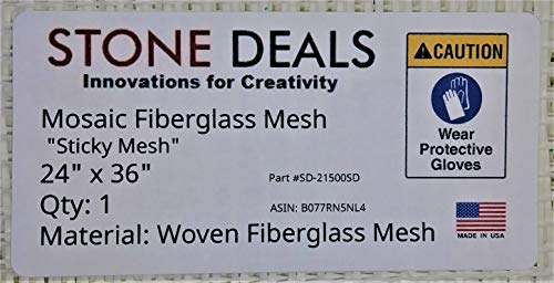 """Stone Deals Mosaic Super Sticky Mesh for Back Mounted Tile 24"""" x 36"""""""