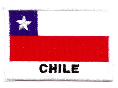 Aufnäher Iron on Patches Applikation Flagge Chile 7,2 x 5cm