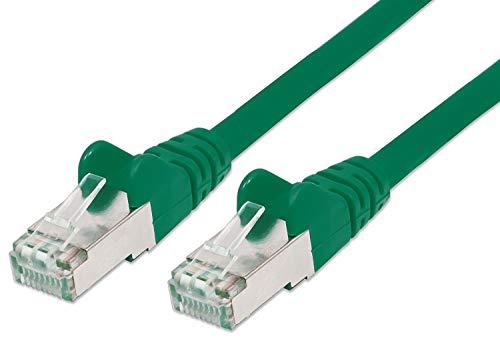PremiumCord Netzwerkkabel, Ethernet, LAN & Patch Kabel CAT6a, 10Gbit/s, S/FTP PIMF Schirmung, AWG 26/7, 100% Cu, schnell flexibel und robust RJ45 kabel, grün, 0,25m