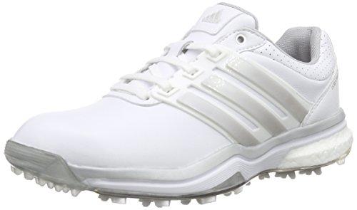 adidas adidas Damen Adipower Boost 2 Golfschuhe, Weiß (White/Matte Silver/Dark Silver Metallic), 37 1/3 EU