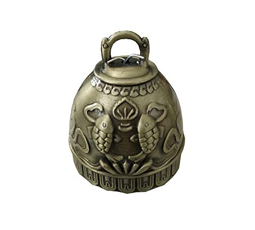 Vintage Feng Shui Elephant Buddha Pisces Peacock Bell Good Luck Bless Home Garden Hanging Windchime,Feng Shui Element, Door Chime or Decor