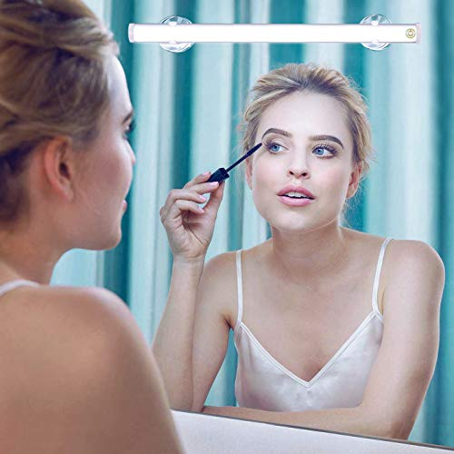 LED Mirror Lights, Portable Vanity Lights | Simulated Daylight | 4 Brightness Level Touch Control | Rechargeable, Cordless Makeup Lights