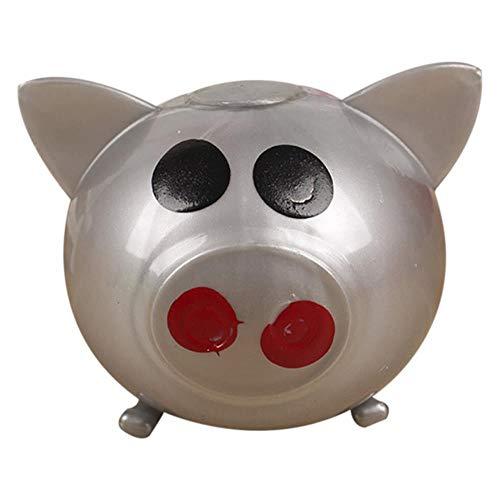 1 ST Anti Stress Decompressie Splat Ball Vent Speelgoed Ontluchtingsbal Sticky Smash Stress Goederen Waterbal Anti Verschillende Soorten Varken Speelgoed, Grijs