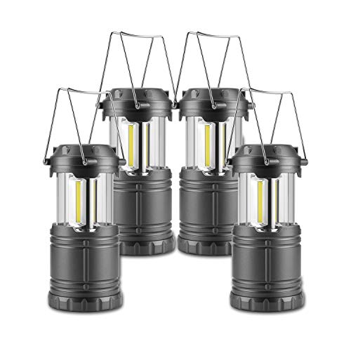 Anfrere Camping Lanterns, 4 Pack Battery Powered Camping Lights Flashlight for Outdoor Camping Hiking, Survival Kits for Emergency, Power Failure, Hurricane (Batteries Not Included)