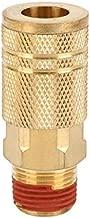 WYNNsky Industrial Air Coupler, 1/4 Inch Body Size, 3/8 Inch NPT Male Threads Size, Brass Air Compressor Hose Fitting