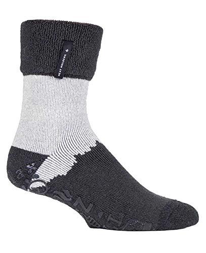 HEAT HOLDERS - Hombre Invierno Calientes Calcetines Estar por Casa (Carbón (Robin), 39-45 EU)