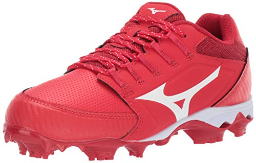 Mizuno 320590.1000.15.1100 9-Spike Advanced Finch Elite 4 Womens TPU Molded Softball Cleat Red-White (1000) 11 (1100)