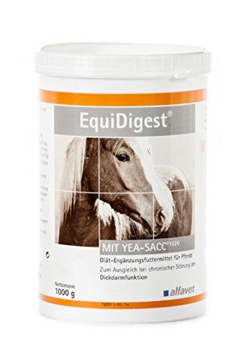Alfavet EquiDigest - Diät-Ergänzungsfuttermittel für Pferde - Zum Ausgleich bei chronischer Störung der Dickdarmfunktion, 1er Pack (1 x 1000 kilograms)