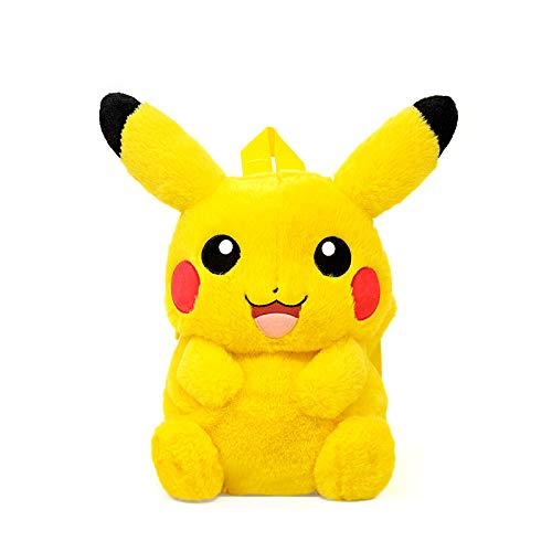 SKYLULU Elf Pikachu Plüsch Rucksack Niedliche Cartoon Puppentasche Geschenk Meng
