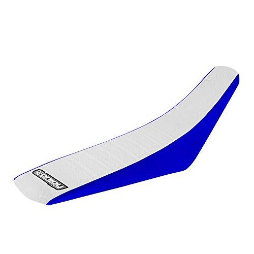 Enjoy Mfg 2008–2015Yamaha TTR 125l-le azul lados/blanco parte superior plisado funda de asiento