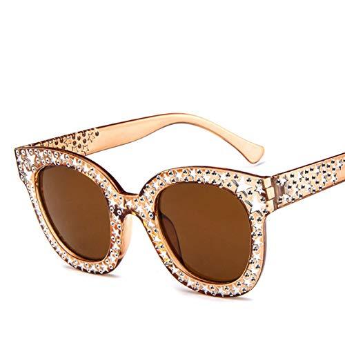 Gafas de Sol Pentagram Mujeres Hombres Moda Cat Eye Gafas de Sol