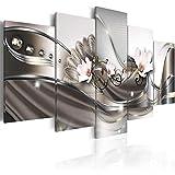 MumuXiDy 5 Pièces Vendre Peinture Moderne Blanc Orchidée Décor À La Maison Toile Peinture Mur Art pour Le Salon Photos Encadrée