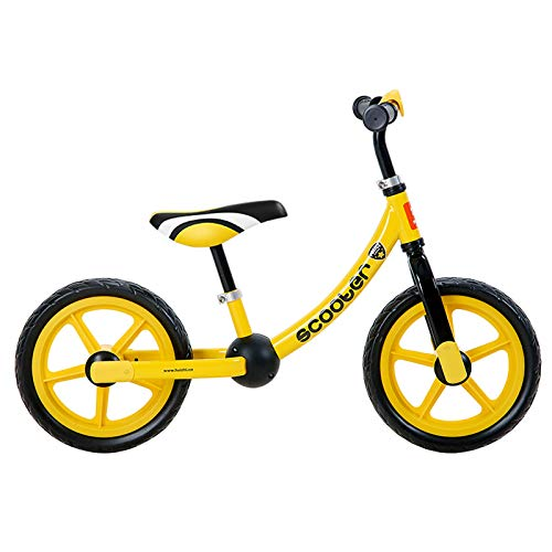 GAOLIQIN Balance Bike,for 2-6 Years Old Kids,No-Pedal Training Bicycle for Children Boys & Girls Adjustable Outdoor Sports Toy Gifts Solid Wheel,Yellow