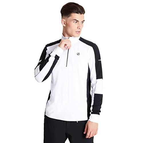 Dare 2b Out Right Ski-Jacke, dehnbar, leicht, mit schnelltrocknender Eigenschaft, 1/2 Reißverschluss, Midlayer Herren, Weiß, FR (Größe Hersteller: XL)