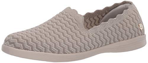 Skechers Damen ON-The-GO Capri-Wavy Sneaker, Beige (Natural Textile/Trim NAT), 40