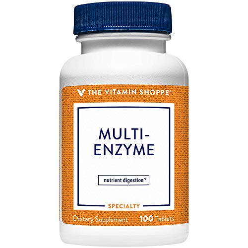 Multi Enzyme Helps Support The Digestion Absorption of Protein, Carbs Fat (100 Tablets) by The Vitamin Shoppe