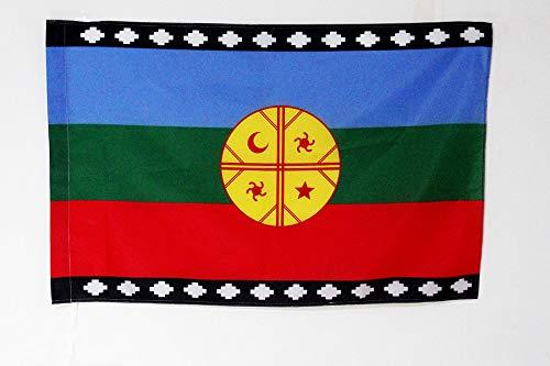 AZ FLAG Flagge MAPUCHE VON Chile 150x90cm - ARAUKANER Fahne 90 x 150 cm Scheide für Mast - flaggen Top Qualität