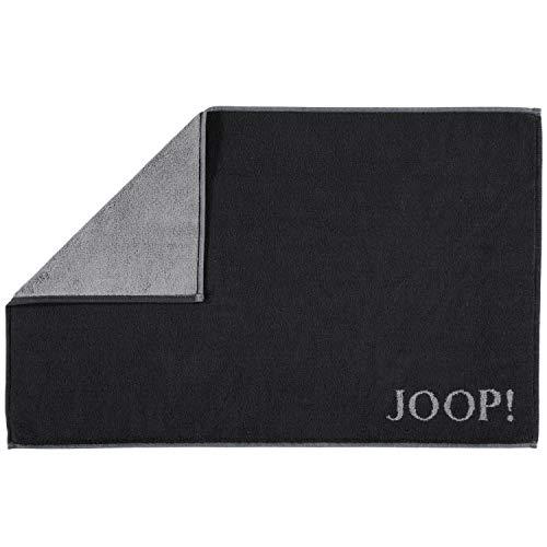 Joop! Badmat Classic Doubleface 1600 zwart/antraciet - 90 50x80 cm