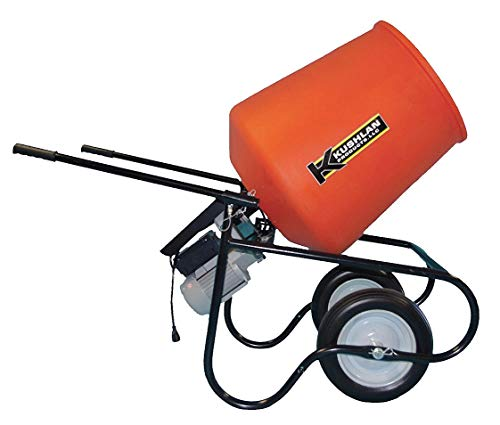 Wheelbarrow Mixer, 3.5 cu ft, 115V, 3/4HP