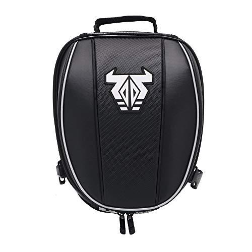 YSMOTO Motorcycle Tail Bag Waterproof Luggage Rear Seat Bag For Sport Outdoors Motorcycle Backpack Helmet Bag White