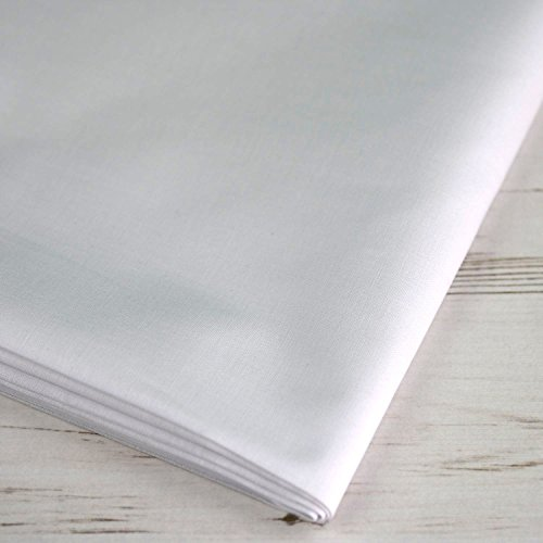 Tela extra ancha 100% algodón blanca,láminas de tela de hasta 150 cm de ancho, se vende por metro