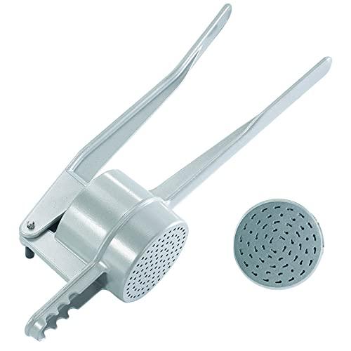 Westmark Schiacciapatate/Pressa per spaetzle, Fori speciali per spaetzle fatti a mano, Alluminio pressofuso, Lunghezza: 41 cm, Spätzlechef, Argento, 61202260