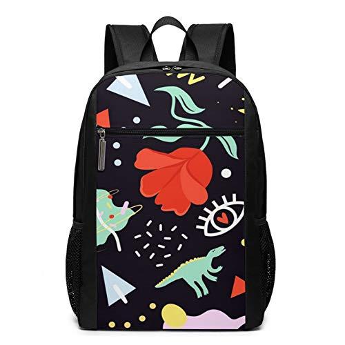 School Backpack Animal Fun Christmas Flower Dinosaurs, College Book Bag Business Travel Daypack Casual Rucksack for Men Women Teenagers Girl Boy