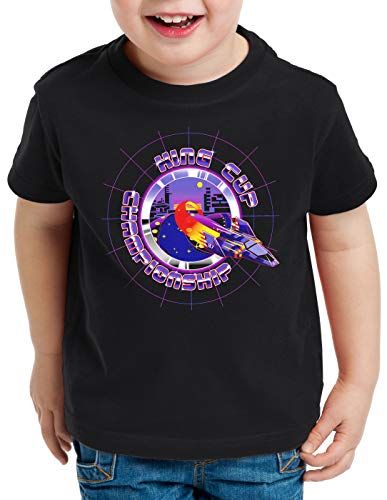 A.N.T. King Cup Champion Camiseta para Niños T-Shirt Captain Falcon fzero, Talla:128