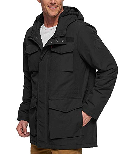 Levi's Men's Arctic Cloth Sherpa Lined Parka, New Black, Large