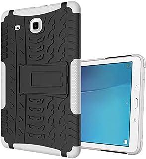 Samsung Galaxy Tab S 9.6móvil, xitoda Hybrid Armor Diseño con Kickstand TPU Silicona + PC Back Cover Case Para Samsung Galaxy Tab S 9.6pulgadas sm-t560/T561/T565Tablet Carcasa Funda Weiß