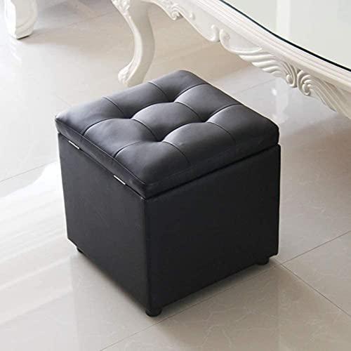 HHXX Cube - Taburete otomano de Cuero sintético para Almacenamiento, Asiento de Banco, Caja de Juguetes con bisagra, Caja organizadora Superior, Cofre, Marrón (Tamaño: 40 * 40 * 40cm)