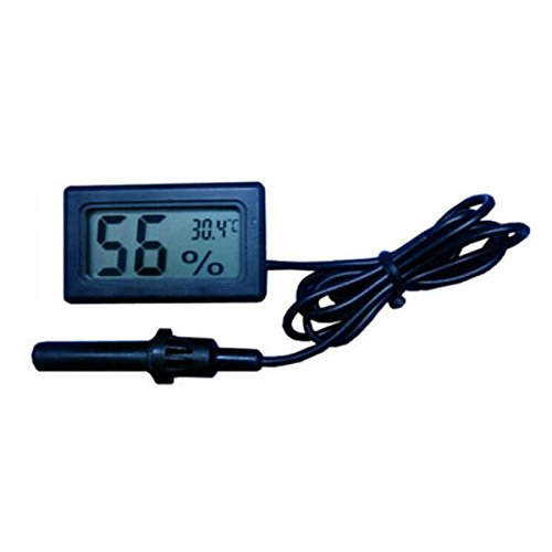 Mini termómetro digital higrómetro Medidor de humedad de temperatura interior Pantalla LCD Celsius (℃) Pantalla (humedad con sonda) para humidores, invernaderos, jardines, bodegas, armarios, etc.