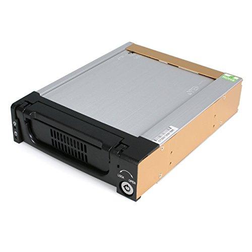 StarTech.com 5.25 in Rugged SATA Hard Drive Mobile Rack Drawer - Aluminum Removable Hard Drive Bay (DRW150SATBK)