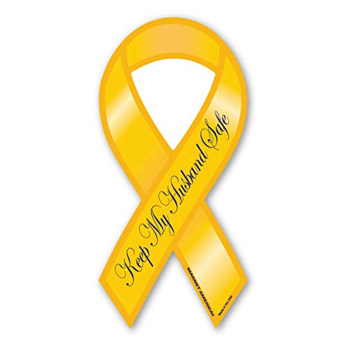Keep My Husband Safe Yellow Ribbon Magnet