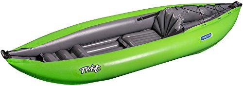 Gumotex Twist I 1 Personen Schlauchkajak aufblasbar Schlauchboot Ultraleicht, Farbe:grün