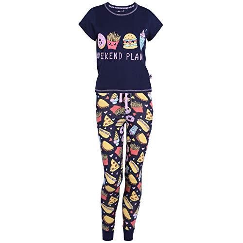 Love to Lounge Donkerblauwe Fastfood-pyjama - XXS
