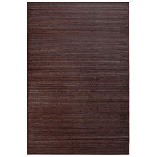 Alfombra de salón o Comedor Industrial marrón de bambú de 200 x 300 cm Factory - LOLAhome
