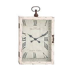 Benzara The Beautiful Wood Metal Wall Clock