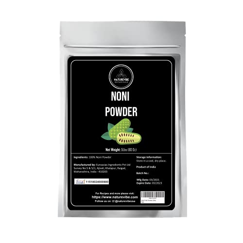 Naturevibe Botanicals Noni Fruit Powder 5lbs (80 Ounces)
