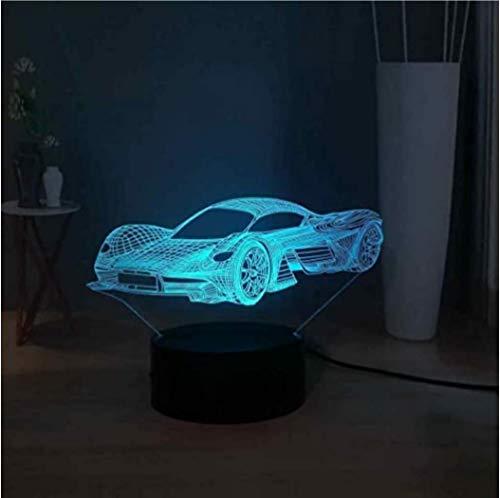 Ferrari Car 3D Illusion Tafellamp LED Nachtlampje voor Kinderen 16 Kleuren Touch Afstandsbediening Schakelaar USB Powered Nachtkastje
