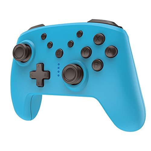 CHANGTRANSLATION Controller Bluetooth Wireless con Controller di Gioco Wireless Jack per Cuffie con somatosensorio .Maniglia Confortevole e Bella (Color : Blue)