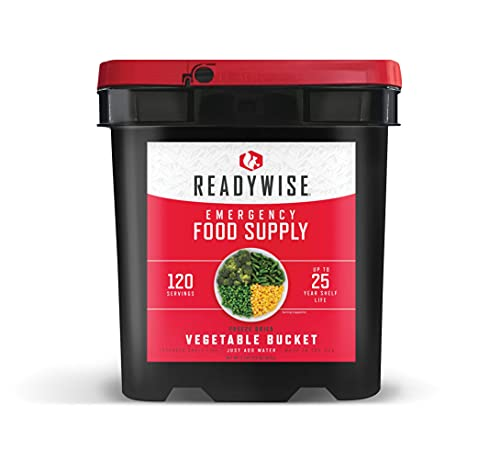 ReadyWise Emergency Food Supply, Freeze Dried Vegetables, 120 Servings, Vegetables