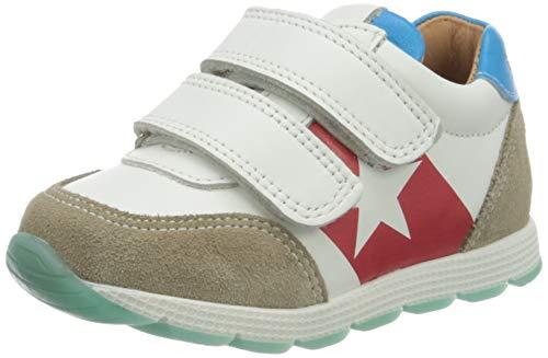 Bisgaard Unisex dziecięce buty sportowe, wielokolorowa - Wielokolorowy White Blue 1706-29 EU