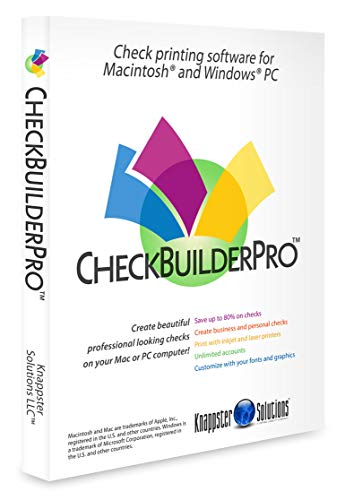 CheckBuilderPro - Windows & Mac Check Printing Software