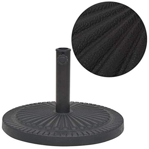 FAMIROSA Base de sombrilla de Resina Redonda Negro 29 kg
