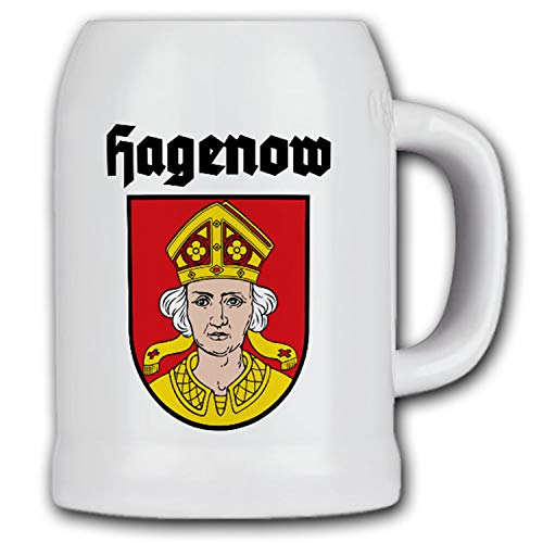 Hagenow Emblem Stadt Mecklenburg-Vorpommern Krug Wappen Bierkrug #15504