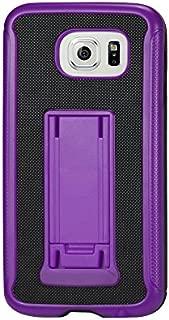 Reiko Wireless Horizontal & Vertical Kickstand Case for Samsung Galaxy S6 - Black/Purple