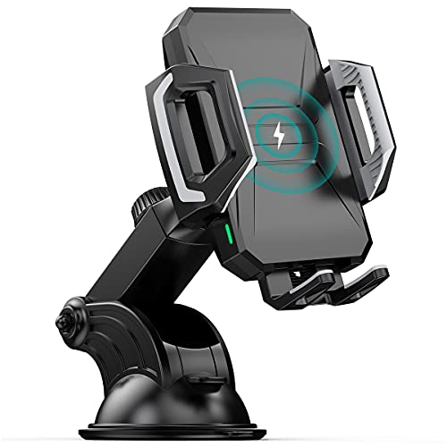 Cargador inalámbrico Qi para coche, 7,5 W/10 W, carga rápida para iPhone, Samsung, Huawei, etc.