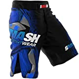 SMMASH MMA Pantalones Cortos FIGHT MACHINE ELECTRIC S M L XL XXL MMA BJJ UFC Boxen K1 (L)