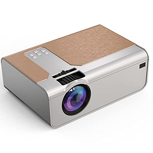 GJNWRQCY Proyector inalámbrico en la Misma Pantalla, proyector de Alta definición de 1080p, Alta transmisión de luz, sin daños en los Ojos, Adecuado para Cine en casa,Blanco